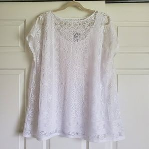 Catherines White Lace Top